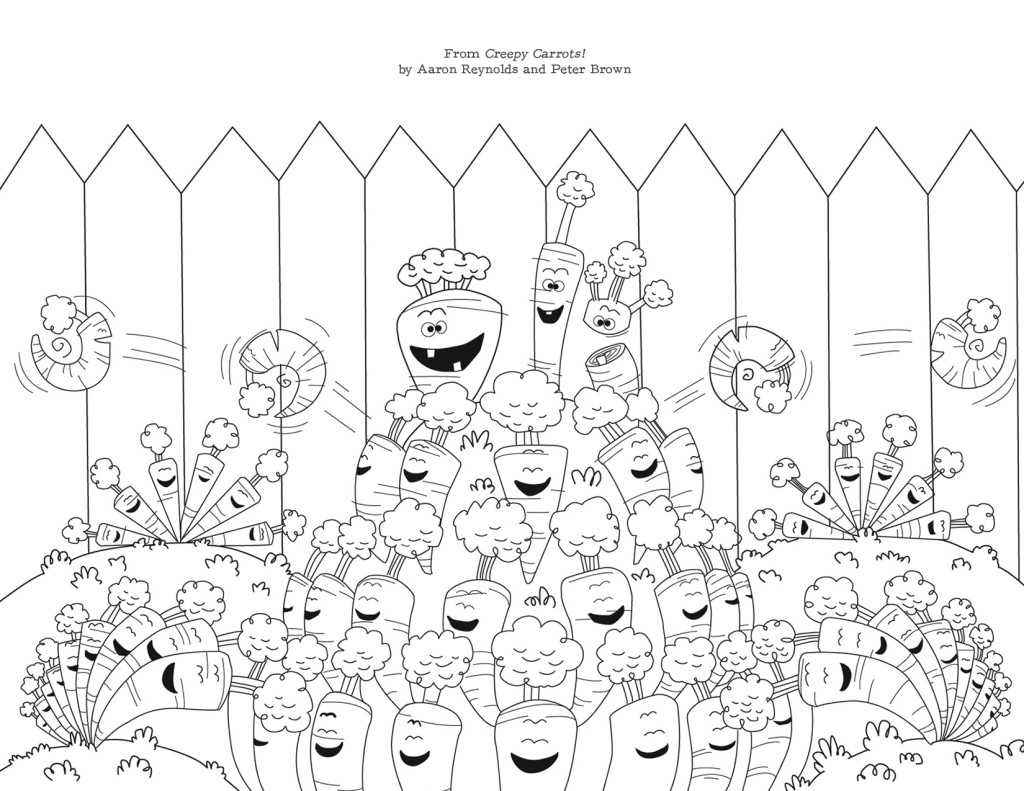 Creepy Carrots Coloring Pages Coloring Pages